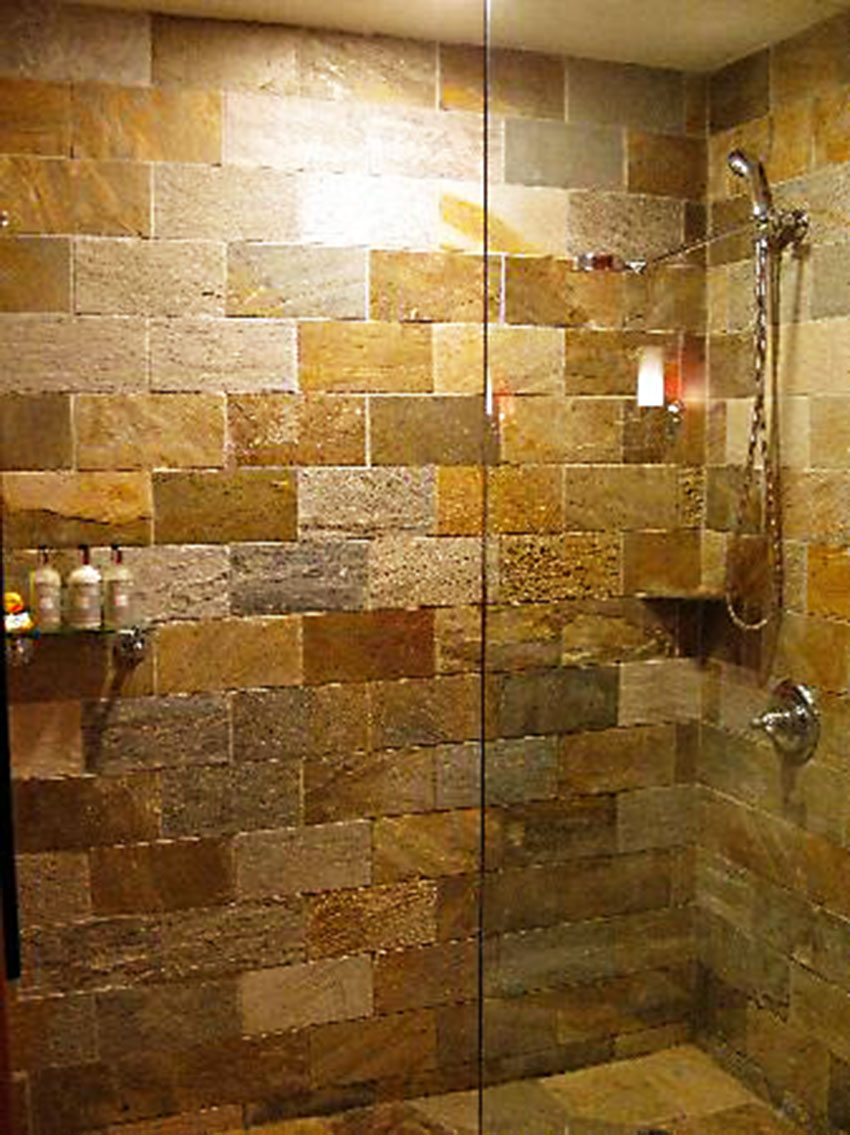 100 stone bathroom showers how to lay a pebble tile floor h